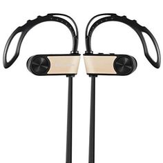 Wireless Headphones Ecandy Sports Sweatproof Wireless Earbuds Headset with Mic for iPhone Samsung Galaxy and Android Phones-Gold