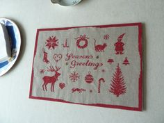 Season's Greetings   Completed Cross Stitch by Aimezvousclassique