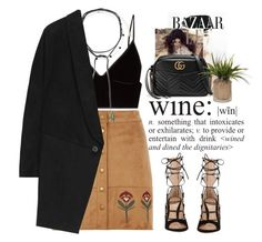 """- Suede-ette -"" by lolgenie ❤ liked on Polyvore featuring Dorothy Perkins, T By Alexander Wang, Jacquie Aiche, Accessorize, STELLA McCARTNEY, Kerr®, WALL, Gianvito Rossi and Gucci"