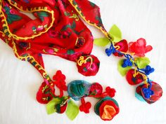 Red triangle scarf, red scarf, ethnic Turkish fabric, authentic Turkish fabrics, ethnic accessories, handmade fabric, women's accessories by Nazcolleccolors on Etsy https://www.etsy.com/listing/183455020/red-triangle-scarf-red-scarf-ethnic