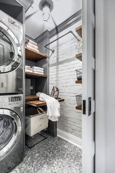 """Explore our site for additional relevant information on """"laundry room stackable washer and dryer"""". It is actually a great place to learn more. Laundry Room Tile, Laundry Room Remodel, Farmhouse Laundry Room, Small Laundry Rooms, Laundry Room Organization, Laundry Room Design, Basement Laundry, Laundry Closet, Utility Closet"""