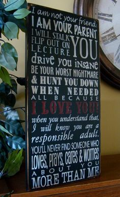 Parent quote sign- love this!