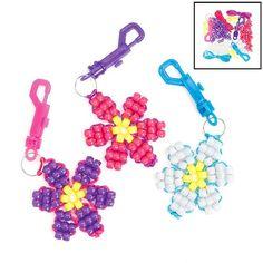 Pony Bead Flower Key Chain Craft Set (1 dz) Fun Express http://www.amazon.com/dp/B003XHWJU6/ref=cm_sw_r_pi_dp_9mrgub15XDWS8