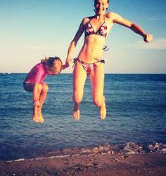 Strand-Floh-Hüpfen