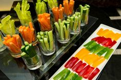 Encourage guests to get their daily dose of vegetables with fresh crudite offerings.