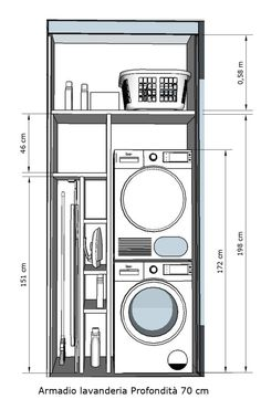 Modern Laundry Rooms, Laundry Room Layouts, Laundry Room Remodel, Laundry Room Organization, Laundry In Bathroom, Laundry Storage, Ironing Board Storage, Small Bathroom Plans, Laundry Room Countertop