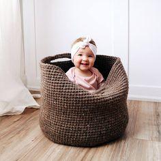 Storage Basket Crochet Patterns - Get Organized - A More Crafty Life Crochet Basket Pattern, Crochet Patterns, Crochet Baskets, Crochet Ideas, Crochet Projects, Crochet Bags, Knitting Projects, Crochet Basket Tutorial, Crochet Stitches