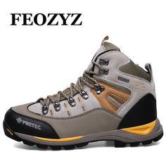 M FEOZYZ Mens Lightweight Midsole Lasting Comfort Warm Waterproof Hiking Shoes US, Brown 43 M EU // 9 B