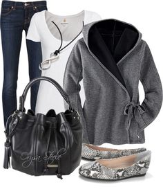 """""""Quiet Afternoon"""" by orysa on Polyvore flared jeans different purse, solid color of flats, boots or heels. akt"""
