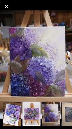 Jean Zimmermann's media content and analytics Hydrangea Painting, Acrylic Painting Flowers, Acrylic Art, Painting & Drawing, Watercolor Paintings, Arte Floral, Art Oil, Floral Watercolor, Flower Art