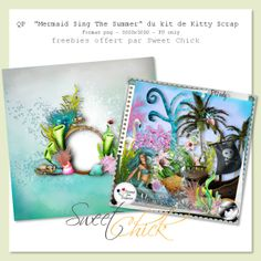 Sweet-Chick Scrap and Co: Mermaid Sing The Summer de Kitty Scrap + Free QP - june 2014