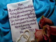 Brides loving thoughts to her Mother by ABridesEyeView on Etsy, making your special day even more special!