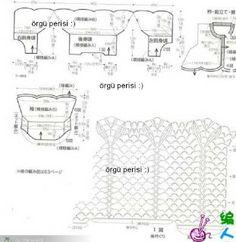 Chorrilho de ideias: Casaco branco em algodão crochet rendado com grafico 2