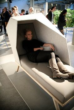 Office furniture for naps by Mieke Tacken (spring globe!), via Flickr
