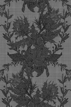 Dining Room Wall Option Thistle Lace in black by Timorous Beasties Textile Patterns, Textile Design, Textiles, Cool Fabric, Lace Fabric, Timorous Beasties, Library Design, Shape Design, Fabric Swatches