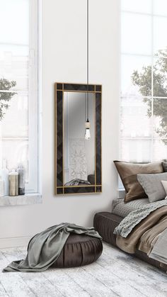 WoodBlack - Black Mamba VI, Woodboz  WoodBlack Koleksiyonundan duvarlarınız için benzersiz bir ahşap ayna. Tamamen el işçiliği, doğal masif ahşaptan yapılmıştır. Mutfak, oturma odası, yemek odası ve ofisler için ideal bir duvar dekorasyon ürünüdür. Wood Mirror, Oversized Mirror, Sleep, Bedroom, Furniture, Design, Home Decor, Decoration Home, Room Decor