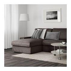 KIVIK 3-zitsbank en chaise longue - Tullinge grijsbruin - IKEA