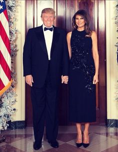 President & First Lady Melania Trump; Christmas portrait 2017