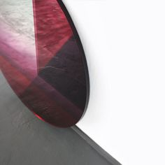Seeing glass /  Big Round mirror in Aubergine  signed by Brit Van Nerven & Sabine Marcelis .Now available at Aybar Gallery Miami dont hesitate to contact us for more information : info@aybar-gallery.com by aybargallery