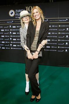 Diane Keaton getting cozy with ZFF co-director Nadja Schildknecht