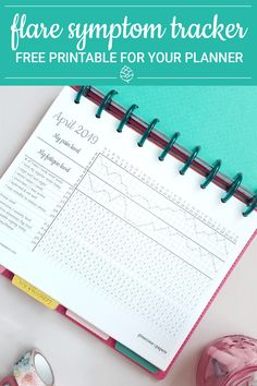 Get free a free flare symptom tracker to track pain, fatigue, medications, symptoms and self-care habits! Bullet Journal Health, Bullet Journal Prompts, Self Care Bullet Journal, Bullet Journal Tracker, Bullet Journal Printables, Bullet Journal Layout, Bullet Journal Ideas Pages, Bullet Journal Inspiration, Bullet Journals