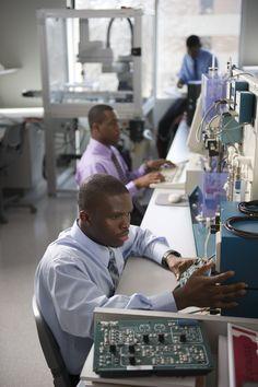 STEM students in robotics lab