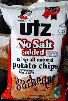 No salt added utz chips with less than 5 mg sodium per serving. Try walmart and shaws. Low Sodium Desserts, Low Sodium Snacks, Low Sodium Diet, Low Sodium Recipes, Sodium Foods, Low Calorie Recipes, Low Salt Snacks, Low Carb, Healthy Recipes
