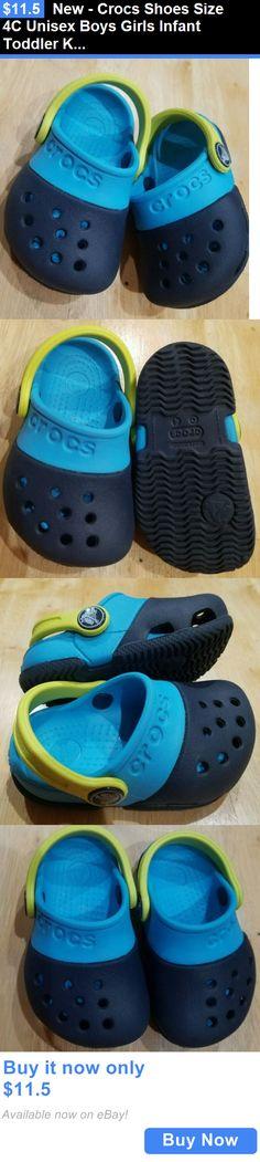 18c38113f01959 Baby Boy Shoes  New - Crocs Shoes Size 4C Unisex Boys Girls Infant Toddler  Kids