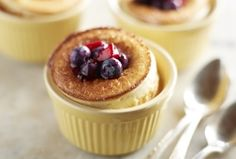 Lemon Dutch Baby Pancake with Blueberry-Strawberry Topping