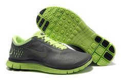 finest selection e768d 1ac81 Nike Free 4.0 V2 Mens Running Shoe Dark Grey Cool Grey Volt