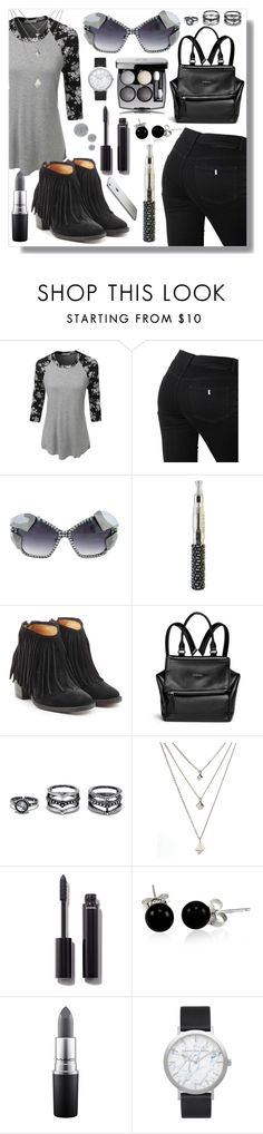 """""""Halsey"""" by crystalcult ❤ liked on Polyvore featuring LE3NO, STELLA McCARTNEY, Fiorentini + Baker, Givenchy, Lulu*s, Chanel, Bling Jewelry, MAC Cosmetics, Elwood and Smith & Cult"""