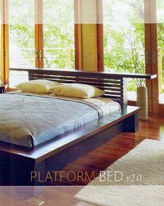 #613 Platform Bed Plans - Furniture Plans