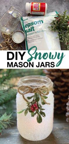 Mason Jar Christmas Crafts, Diy Christmas Lights, Christmas Candle Holders, Christmas Tea, Mason Jar Crafts, Holiday Crafts, Christmas Candles, Mason Jar Candle Holders, Diy Christmas Projects