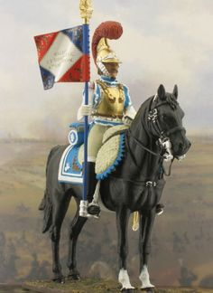 Model soldier from Napoleonic times. Clothes in Books
