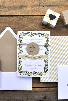 "Brides.com: . ""Wonderland"" wedding invitation, starting at $257 for 100 invitations, Smitten on Paper"