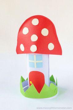 Easy fairy craft for preschoolers. Easy fairy craft for preschoolers. Toilet Paper Roll Crafts, Paper Crafts For Kids, Craft Activities For Kids, Diy For Kids, Activity Ideas, Mini Fairy Garden, Fairy Garden Houses, Fairy House Crafts, Sand Crafts