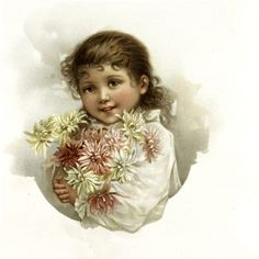 Nostalgic Brown-Eyed Girl Holding Bouquet Graphic!