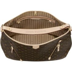 Cheap And Fine Louis Vuitton Delightful GM Brown Totes at Discount Price!   See more about louis vuitton, monograms and totes.
