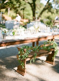 Sweetheart 'bench' for bride and groom -- See the wedding SMP: http://www.StyleMePretty.com/2014/02/20/gilroy-california-ranch-wedding/ Photography: Silvana Difranco