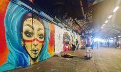 Work from #misshazard in the foreground for #femmefierce in the #leakestreet tunnel #streetstyle #streetart #streetartlondon #graffiti #urbanart #spraypaintart by inspiringcity