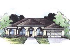 Longboat Key Florida Style Home  from houseplansandmore.com