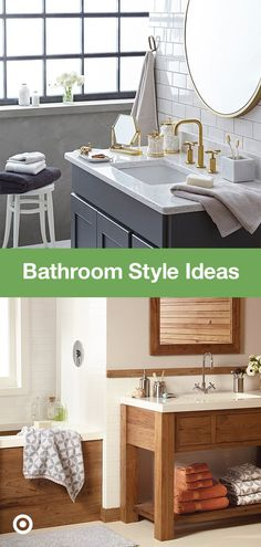 Bathroom updates can be easy—whether you're redoing a large master, guest or kids' bathroom. Find decor ideas and inspiration for rustic or farmhouse styles and small space organization. Bathroom Renos, Bathroom Renovations, Home Renovation, Small Bathroom, Home Remodeling, Bathroom Ideas, Bathroom Updates, Upstairs Bathrooms, Master Bath Remodel