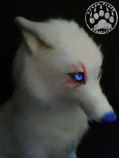 Fantasy creature - arctic wolf - handmade ooak #fantasy #creature #wolf #poseable