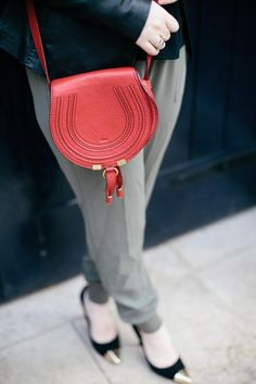 CHLOE Coral pink Marcie Round Small Pochettete | Bags | Pinterest ...