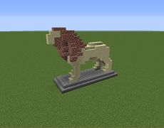 Lion Statue - GrabCraft - Your number one source for MineCraft buildings, blueprints, tips, ideas, floorplans!