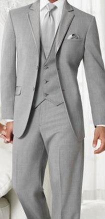 Light gray men's suit.