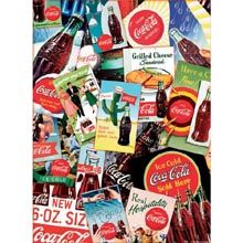 Coca-Cola Collage 1000 Piece Puzzle: A collage of images of Coca-Cola road side signs make up this 1000 piece jigsaw puzzle. The puzzle measures 27 Coca Cola Merchandise, Coca Cola Poster, Roadside Signs, Coca Cola Decor, Coca Cola Christmas, World Of Coca Cola, Cold Ice, Diet Coke, Retro Toys