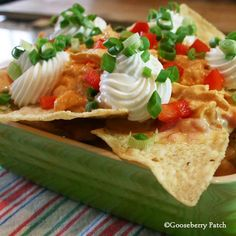 Slow-Cooker Buffalo Chicken Nachos.