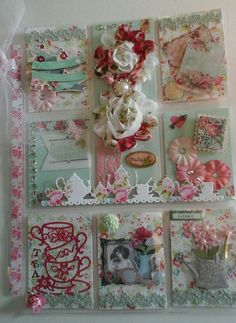Girlie pl Book Crafts, Paper Crafts, Pocket Pal, Chabby Chic, Atc Cards, Pocket Letters, Happy Mail, Vintage Crafts, More Than Words