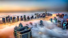 """Foggy Dubai Marina - shot from the roof top of one of the tallest buildings of Dubai Marina link to my fb page <a href=""""https://www.facebook.com/SajPhotography.Official"""">Facebook</a>"""
